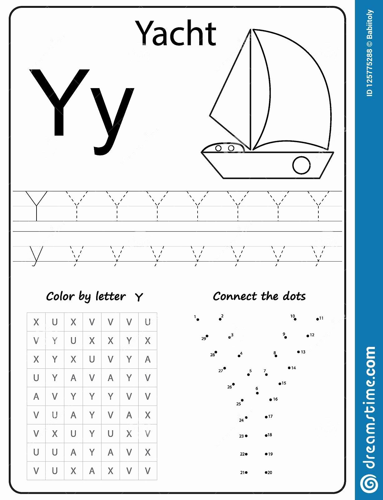 Letter Y Worksheets For Preschoolers
