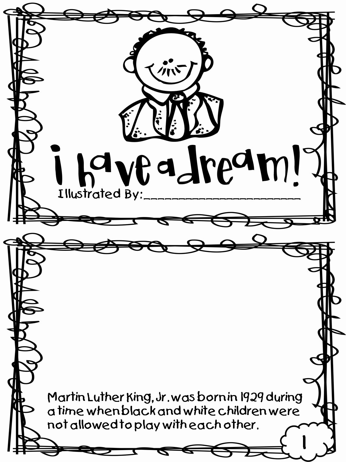 Martin Luther King Worksheets For Preschoolers