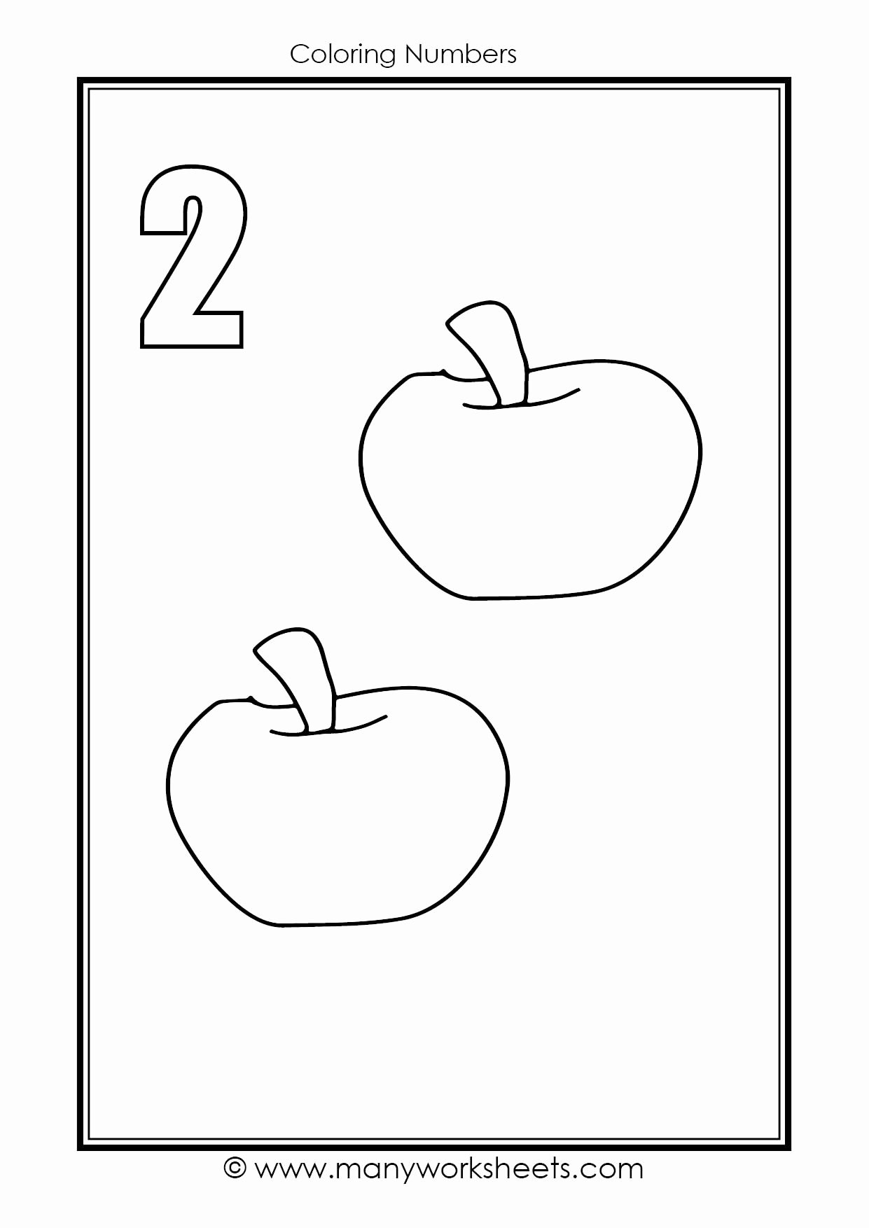 Number Two Worksheets For Preschoolers