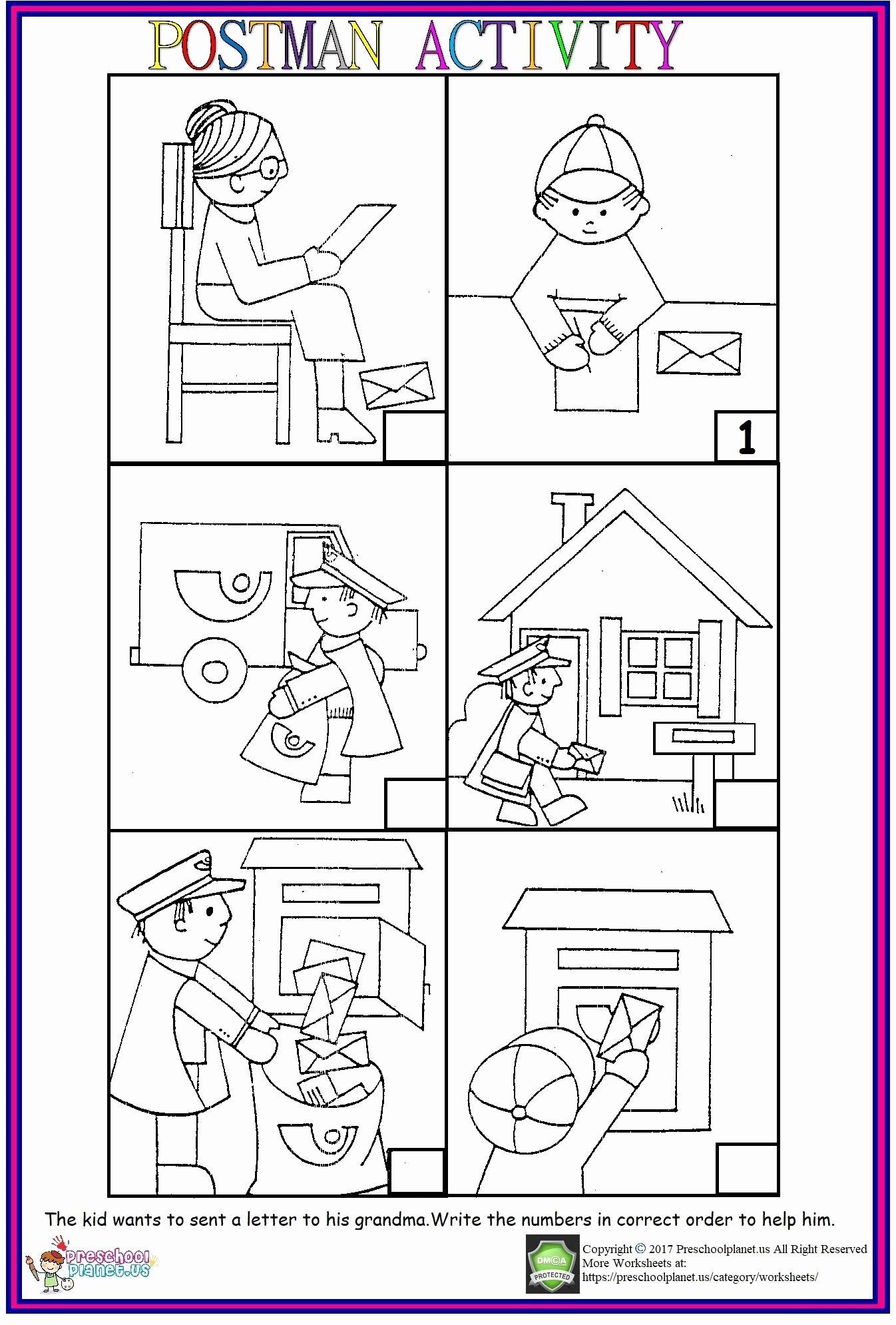 Post Office Worksheets For Preschoolers