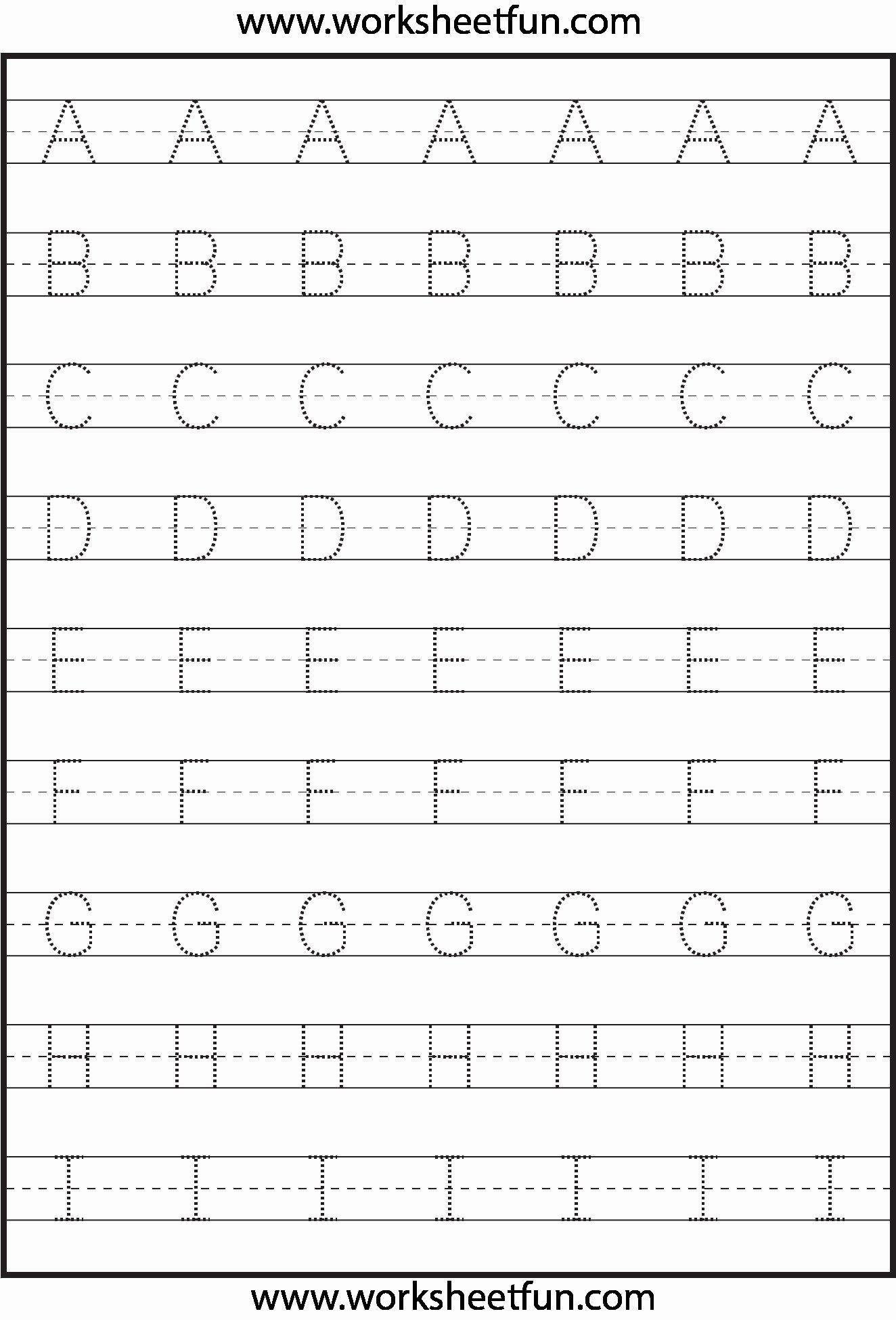 Printable Abc Worksheets For Preschoolers
