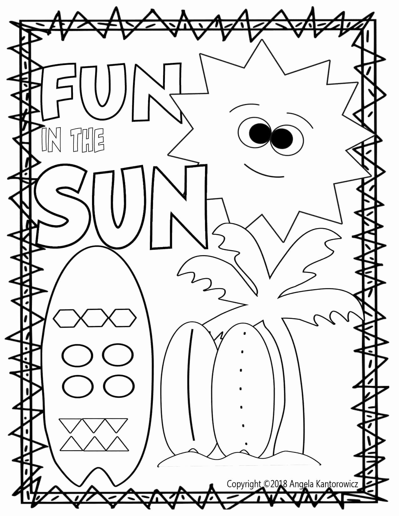 Summer Fun Worksheets For Preschoolers
