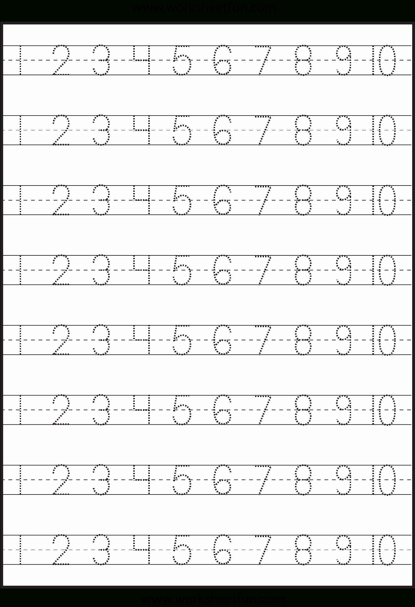 Worksheets For Preschoolers Numbers