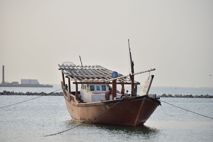 Fishing boat on Dammam beach