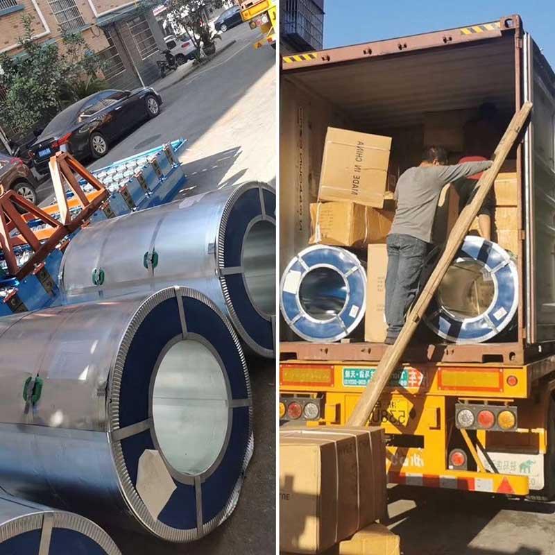 Bobinas de acero exportadas a Nigeria