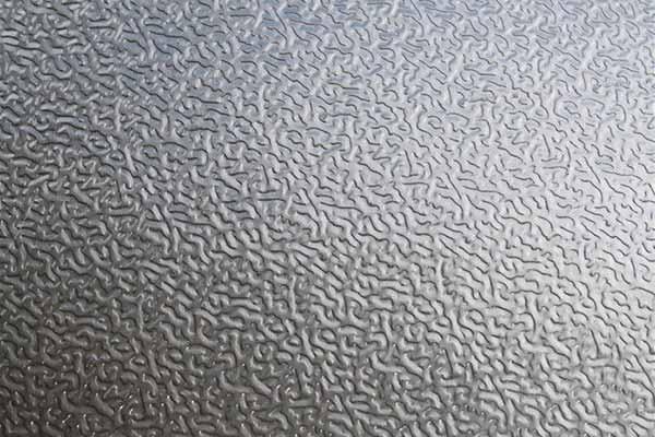 Piastra in alluminio goffrato