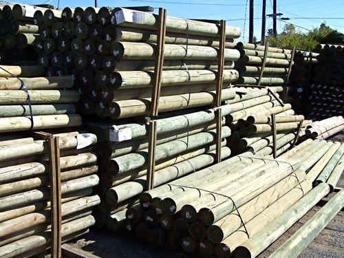 Doweled Lodge Pole Posts, Pressure Treated
