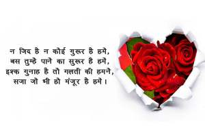 love shayari in hindi | beautiful romantic shayari on love | लव शायरी