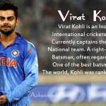 प्रसिद्ध क्रिकेटर विराट कोहली की जीवनी