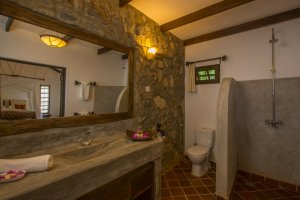 Bathroom of the Garden Room at Rivertrees Country Inn