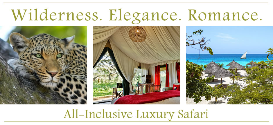 Wilderness, elegance, romance - All-Inclusive Luxury Safari in Tanzania