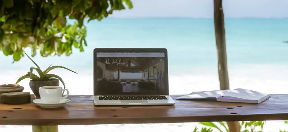 Remote working Bush & Beach in Tanzania
