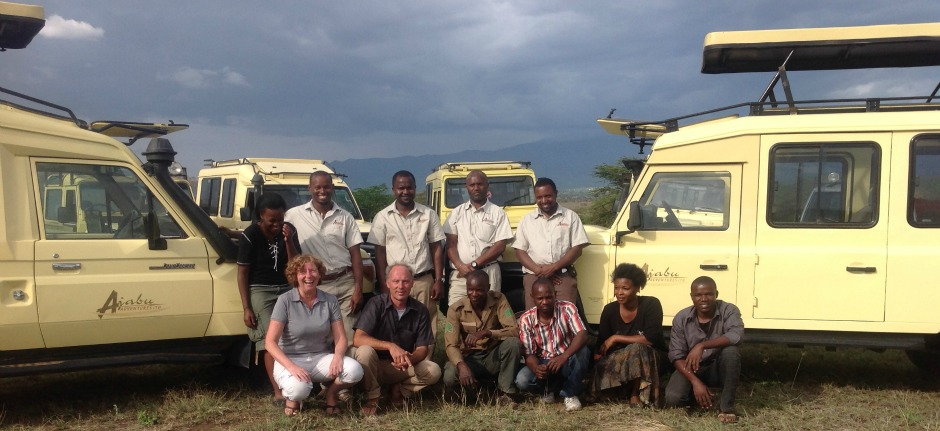 Ajabu Adventures team for private safaris in Tanzania