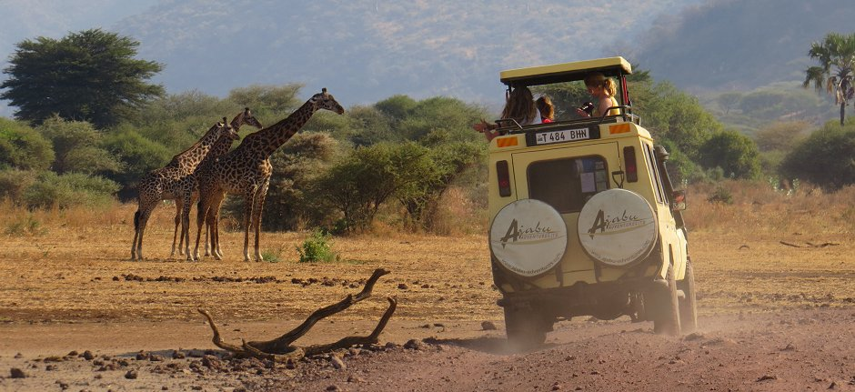 Ajabu Adventures on the road in Lake Manyara Tanzania