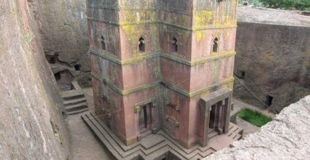 Gereja abad pertengahan, Lalibela, Ethiopia