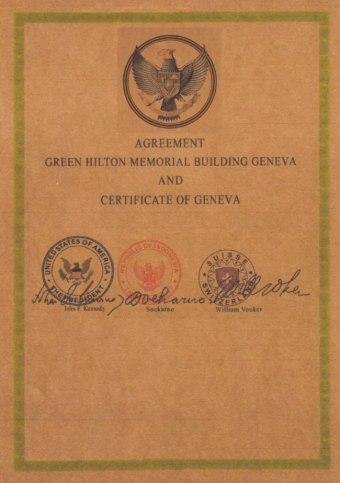 """The Green Hilton Memorial Agreement "" Perjanjian yang Menggemparkan Dunia"