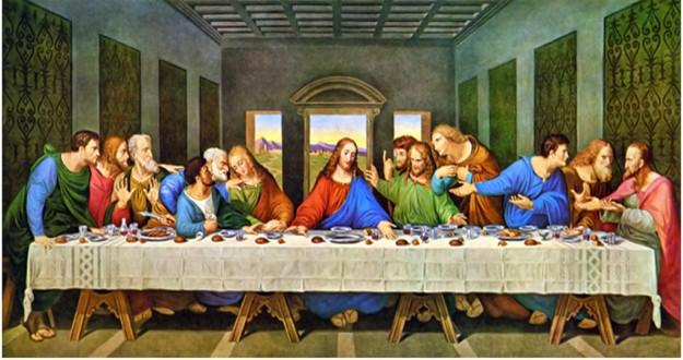 """Lukisan """"The Last Supper Of Jesus"""" sesudah di edit"""