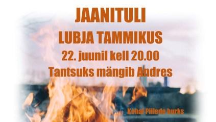 Jaanituli Koonga Lubja Tammikus