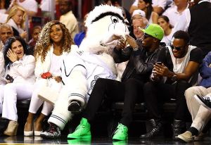 Serena Williams, Spurs Mascot and Usain Bolt