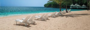 Couples Resorts Beach in Sunny Jamaica