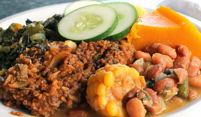 a plate of ital foods