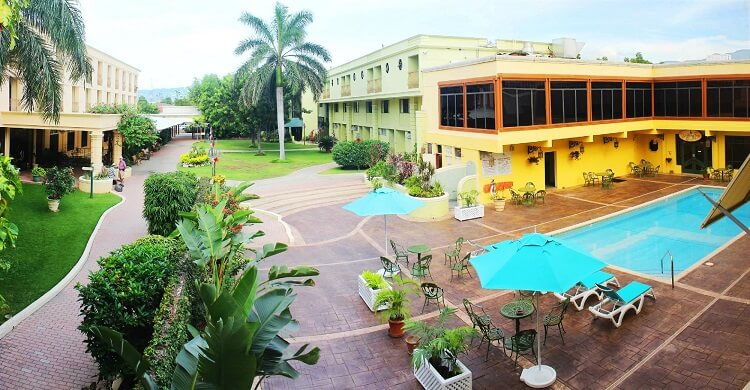 The Knutsford Court Hotel in Kingston, Jamaica