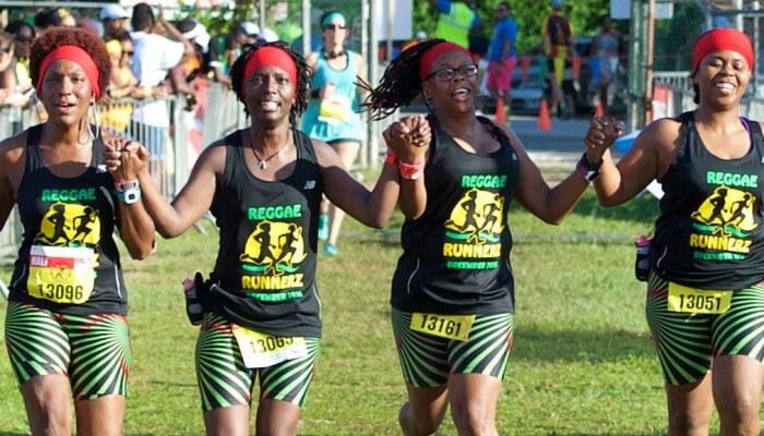 participants in the Reggae Marathon, Negril, Jamaica
