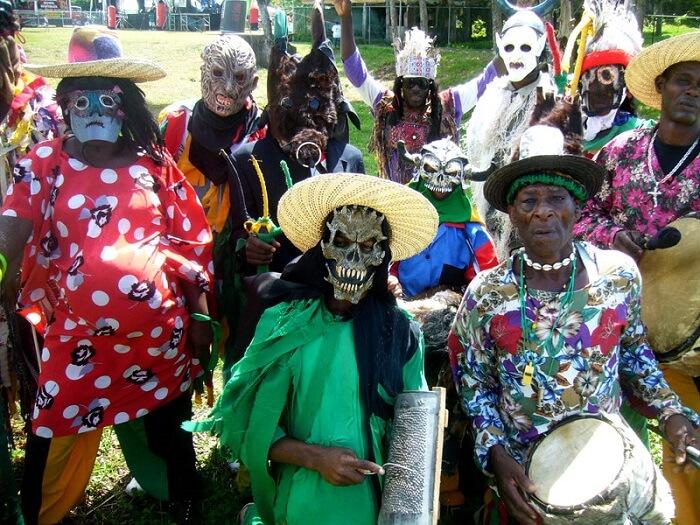 Jamaicans dressed up for Junkanoo Festival