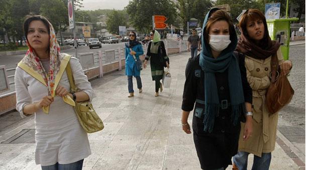 Women walking in Tajrish Square, north Tehran.