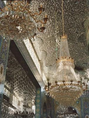 Mirror-mosaic work in Sayyida Zeynab Shrine, Damascus, 2006.