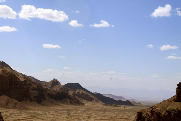 The view of the desert atop the Shrine of Chak Chak.