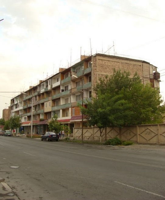 Typical five story Soviet housing at Yerevan suburbs.