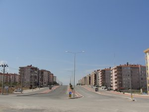 New housing developments in the north of the city.