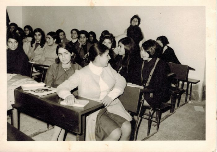 Maryam Savoji Girl's High School Classroom in Tehran, 1967. Contributed by Ali Karjoo-Ravary. Ajam Digital Archive, http://www.ajammc.com/
