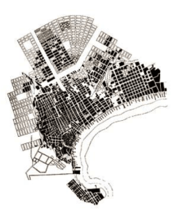 A Map of Baku showing the different building periods during the 19th and 20th century.