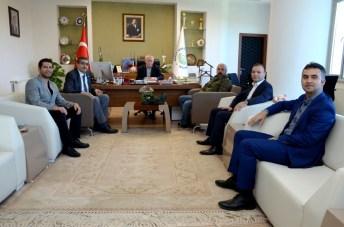 DSC 8599 - Mete Yarar, Rektör Alişarlı'yı Ziyaret Etti