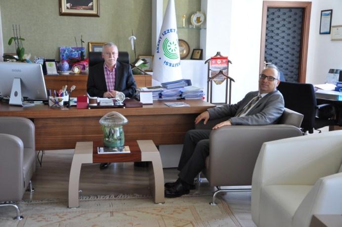 DSC 0378 - Bolu Çimento Genel Müdürü Yenice'den Rektör Alişarlı'ya Ziyaret…
