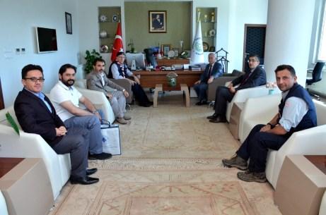 DSC 2477 2 - Türkiye İzcilik Federasyonu'ndan Rektör Alişarlı'ya Ziyaret…