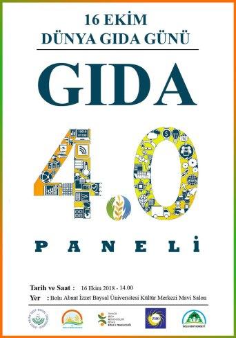 Afiş DGG - Dünya Gıda Günü Etkinliği (Gıda 4.0) Paneli