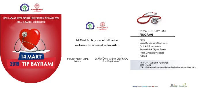 14mart19 1 - 14 Mart Tıp Bayramı Programı
