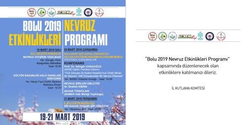 2019 davetiye - Bolu 2019 Nevruz Programı Etkinlikleri