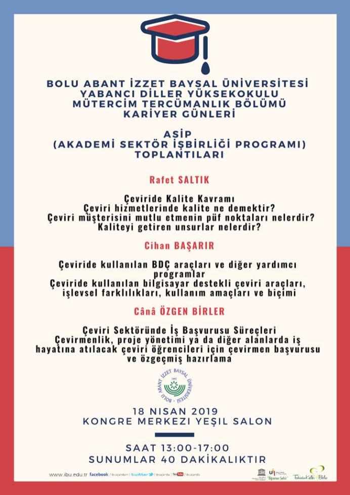 18nisan 2019 - YDYO Kariyer Günleri / (ASİP) Akademi Sektör İşbirliği Programı