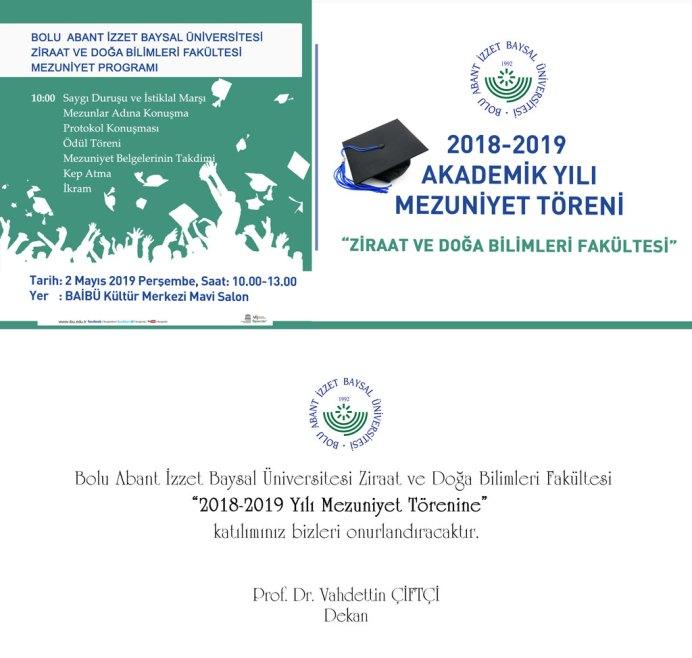 ziraat19 - BAİBÜ 2018-2019 Zıraat ve Doğa Bilimleri Fakültesi Mezuniyet Programı
