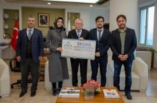 DSC 0319 - SEDAŞ Proje Fikri Yarışması'nda Ödül Alan Öğrencilerden Rektör Alişarlı'ya Ziyaret