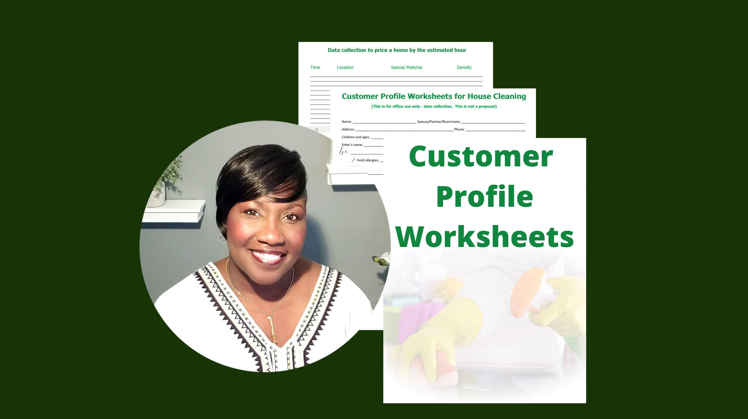 Customer Profile Worksheet For House Cleaning