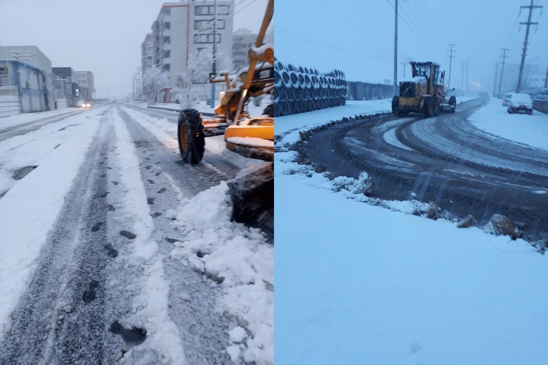 Bağlar belediyesi'nden kar temizliği