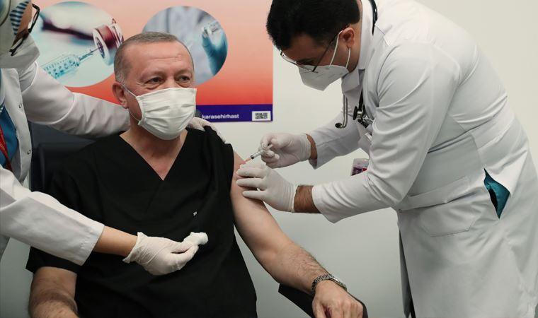 Cumhurbaşkanı Erdoğan, koronavirüs aşısının ikinci dozunu yaptırdı