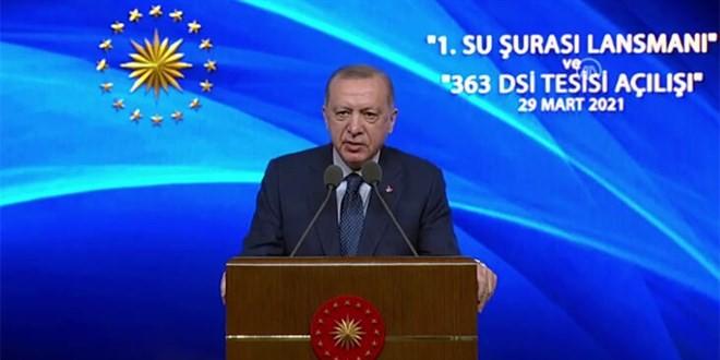 Erdoğan: Suyumuzu korumakla vatanımızı korumak arasında hiçbir fark yok