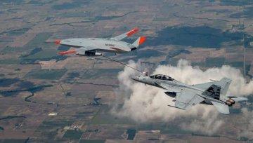 ABD ilk kez drone tanker ile savaş uçağına havada yakıt ikmal etti