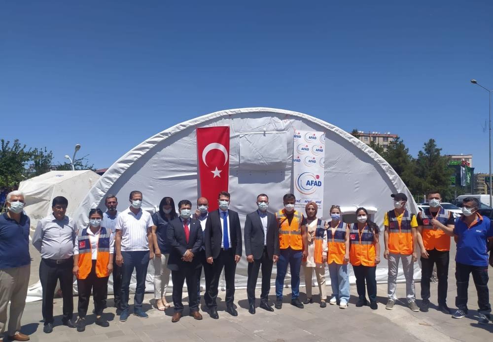 Diyarbakır'da afet eğitim çadırı hizmete başladı
